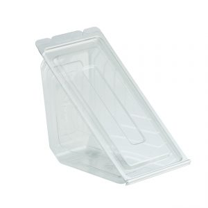 DeliView Clear Hinged Sandwich Wedge