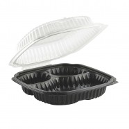 Culinary Classic 9.5×10.5 3-Cmp. Base/1-Cmp. Perforated Hinged Clamshell