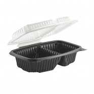 Culinary Classic 6×9 2-Comp. Base/2-Comp. Lid, Hinged Clamshell