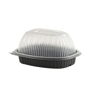 Roaster, Large Black Base and Clear Lid