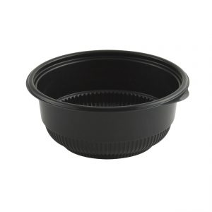 """Incredi-Bowls M5820B-500 - 5.75"""" Round Bowl microwavable polypropylene black base with a 20-ounce capacity. 500 Case Pack."""