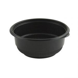"Incredi-Bowls M5820B-250 - 5.75"" Round Bowl 16-20 oz Microwavable Polypropylene Black Base 250 Case Pack"