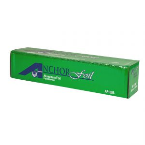 """AnchorFoil AF185S - 18"""" x 500' Roll Standard Aluminum Foil Roll with Cutter Box"""