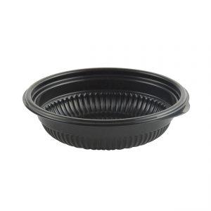 """Incredi-Bowls M4805B - 4.75"""" Round Bowl 5 oz Microwavable Polypropylene Black Base"""