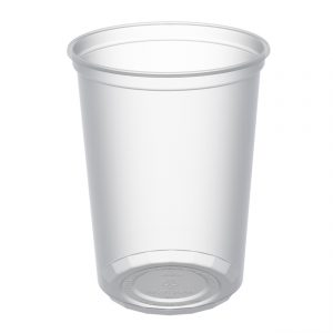 """MicroLite D32CXL - 4.5"""" Round Container 32 oz Microwavable Clear Polypropylene Deli Cup"""
