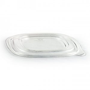 """Crystal Classics CPS8CF - 8"""" Square Bowl Lid RPET Clear Flat Bowl Lid, Fits CP832 , CPS832C,CPS848, CPS848C"""