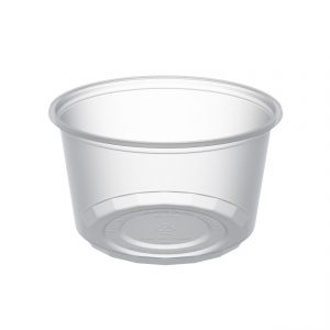 """MicroLite D12CXL - 4.5"""" Round Container 12 oz Microwavable Clear Polypropylene Deli Cup"""