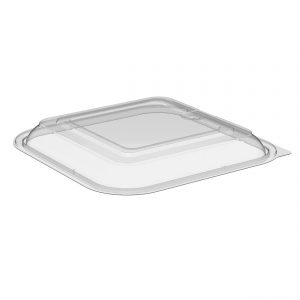 """Culinary Squares CS85LH1 - 8"""" Square Lid Microwavable One Compartment Clear Anti-Fog Polypropylene, Fits CS85321, CS8532"""