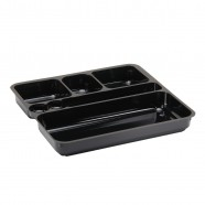 Black Executive Meal Tray Insert, Sq/Rectangular Comp.