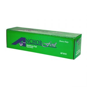 """AnchorFoil AF181H - 18"""" x 1,000 Ft Heavy-Duty Aluminum Foil Roll with Cutter Box"""