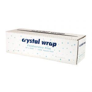 "Crystal Wrap CW182 - 18"" x 2,000' PVC Roll Cling Film Cutter Box"