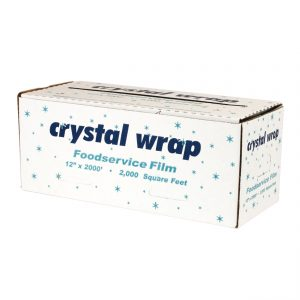 """Crystal Wrap CW123 - 12"""" x 3,000' Roll Cling Film Cutter Box"""