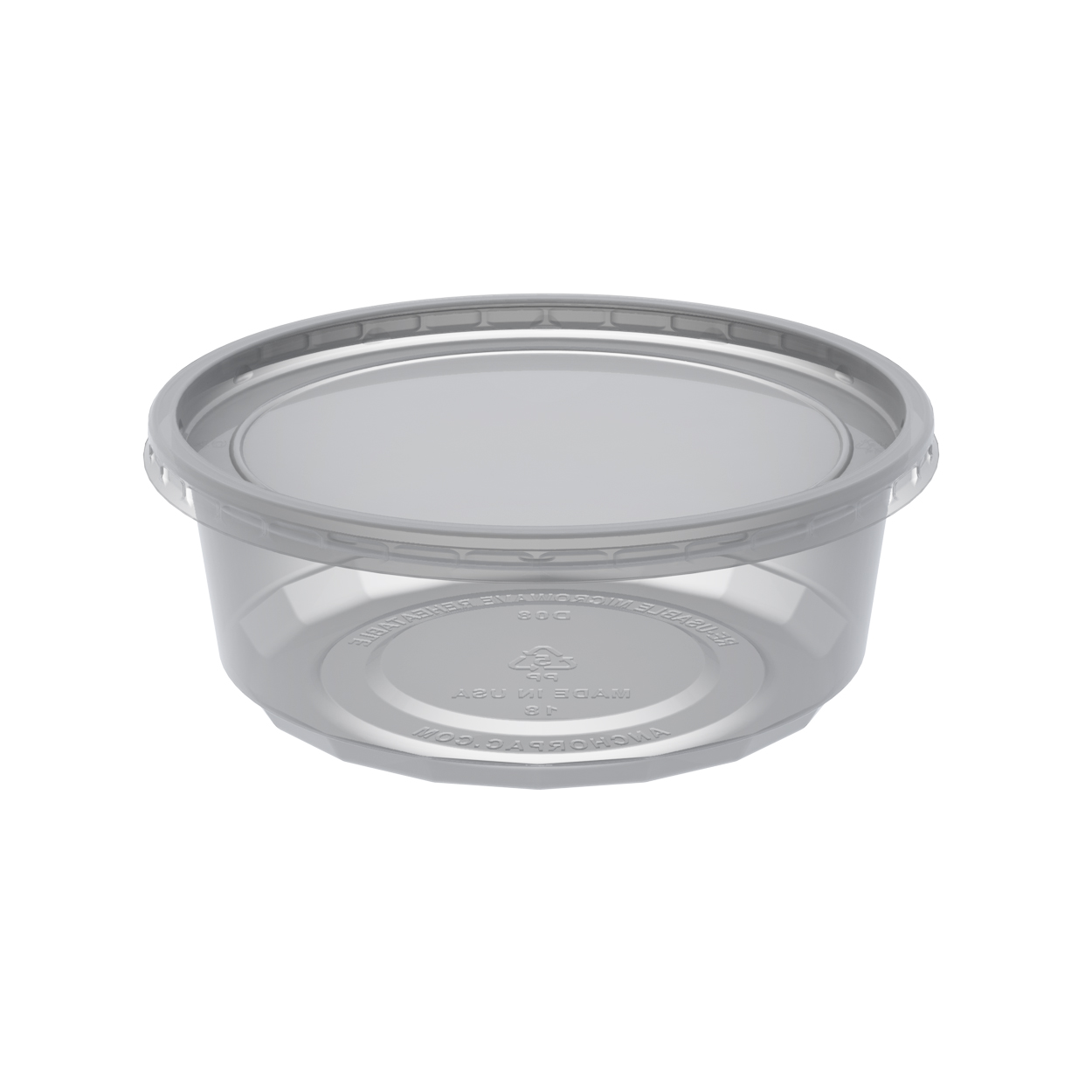 Microlite 8oz Clear Cup Lid Combo Pack Cd08cr Anchor Packaging