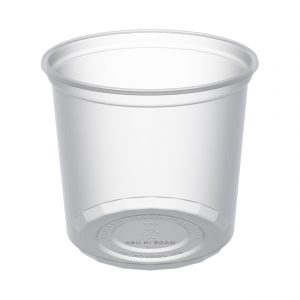 """MicroLite D24CR - 4.5"""" Round Container 24 oz Microwavable Polypropylene Clear Deli Cup"""