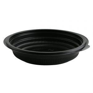"Incredi-Bowls M7220-252 - 7.25"" Round Bowl 20 oz Microwavable Polypropylene Black Base 252 Pack"