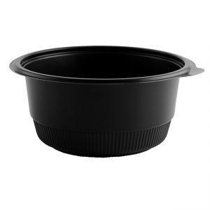 """Incredi-Bowls M7240 -7.25"""" Round Bowl 40 oz Microwavable Polypropylene Black Base"""