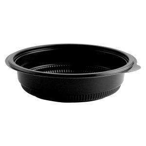 """Incredi-Bowls M7224 - 7.25"""" Round Bowl 24 oz Microwavable Polypropylene Black Base"""